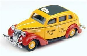 Ford ForDor Taxi 1936 gelb H0 Modellauto CMW 30199 Oldtimer