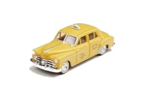 Dodge Meadowbrook Taxi 1950 gelb Spur H0 Modellauto CMW 30229