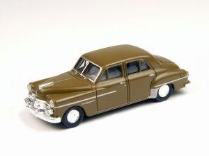 Dodge Meadowbrook 4-Türer braun 1950 Spur H0 Modell CMW 30247