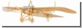 AEROBASE B007 Etrich Taube 1:160 Messing Flugzeugmodell
